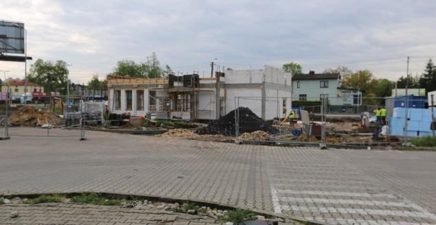 Budowa przy skrzyżowaniu DK-1 z ul. Węglową - 10.05.2019