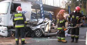 Wypadek na DK-1 w Kobiórze