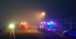 [FOTO] Tragiczny wypadek na DK-1 w Goczałkowicach. Nie żyje pieszy