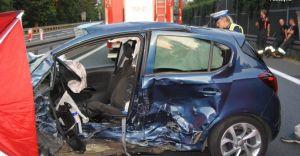 [ZDJĘCIA] Śmiertelny wypadek na DK-1 w Goczałkowicach-Zdroju