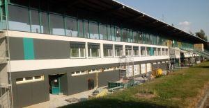 Trwa termomodernizacja budynku MOSiR przy stadionie
