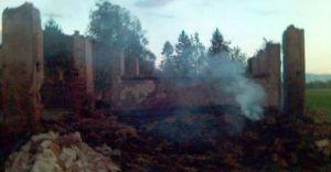 Pożar stodoły w Miliardowicach