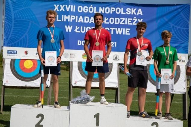 Jakub Bąk ze złotym medalem Ogólnopolskiej Olimpiady Młodzieży