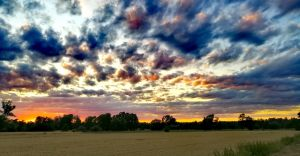 Foto-dnia: zachód słońca w Ligocie Miliardowicach