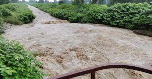 Po porannej ulewie nagły wzrost poziomu wody w rzekach