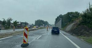 Zwężenie na DK-1 w związku z budową nowego wiaduktu