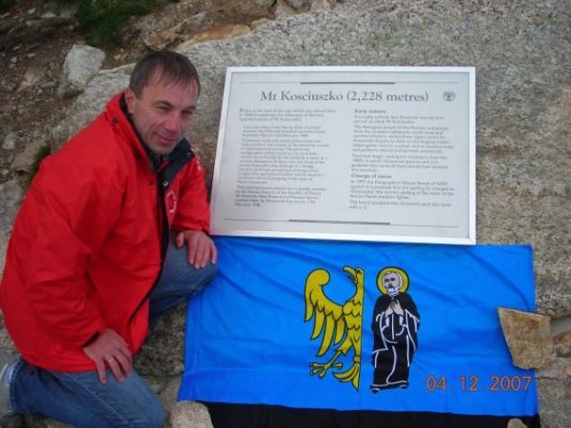 Roman Dzida zdobył Górę Kościuszki