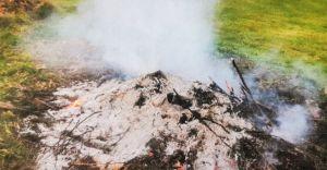 Spalali odpady zielone na powierzchni ziemi. Nie znali przepisów