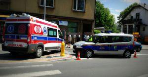 Wypadek samochodowy w centrum miasta, trzy osoby w szpitalu