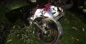 [FOTO] Wypadek motocyklowy w Bestwinie. 20-latek w ciężkim stanie!
