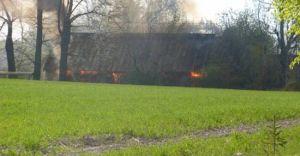 Duży pożar przy ulicy Kopernika