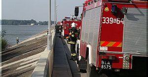 Ćwiczenia taktyczno-bojowe strażaków