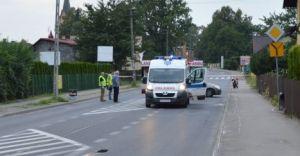 Wypadek motocyklisty na Legionów - nie żyje 43-latek z Czechowic-Dziedzic