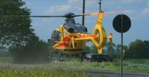 Wybuch gazu w Rudołtowicach, lądował śmigłowiec LPR z Krakowa