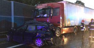 [ZDJĘCIA] Zmarła trzecia osoba biorąca udział w wypadku na DK-1