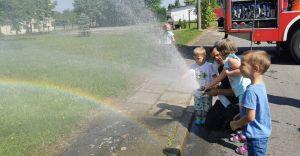 [ZDJĘCIA] Dzieci z Elfika z wizytą u strażaków