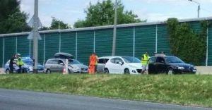 [WIDEO] Pięć samochodów zderzyło się na DK-1 w Pszczynie