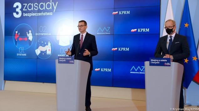 Konferencja Prezesa Rady Ministrów i Ministra Zdrowia - 8.10.2020