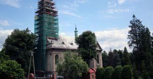 Foto-dnia: remont wieży kościoła pw. św. Katarzyny Aleksandryjskiej