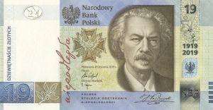 NBP wyemitował nowy banknot o nominale 19 złotych