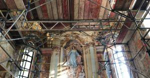 [ZDJĘCIA] Kolejny etap prac w bestwińskim kościele zakończony