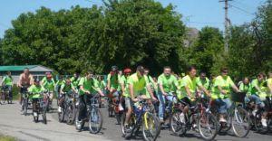 Działkowcy na rowerach