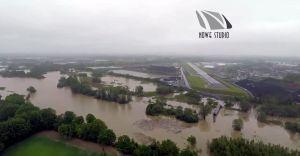 Wideo z drona: olbrzymie rozlewisko Wisły w naszym regionie