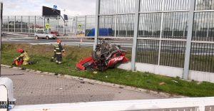 [FOTO] Poważny wypadek na DK-1. Kierowca w ciężkim stanie!