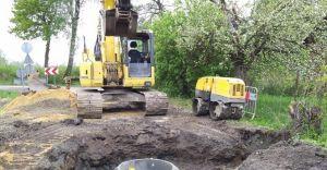 Rozpoczął się kolejny etap budowy kanalizacji sanitarnej w gminie