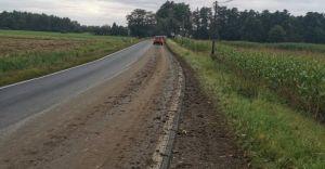 Straż miejska ukarała rolnika, który zanieczyścił drogę