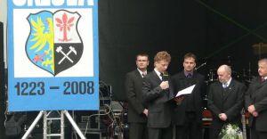Władze Czechowic z wizytą w Orlovej