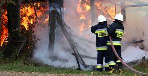 Pożar drewnianej stodoły w Goczałkowicach-Zdroju