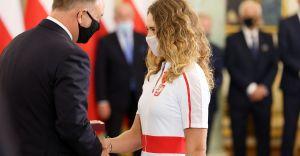Justyna Iskrzycka odznaczona przez prezydenta Andrzeja Dudę