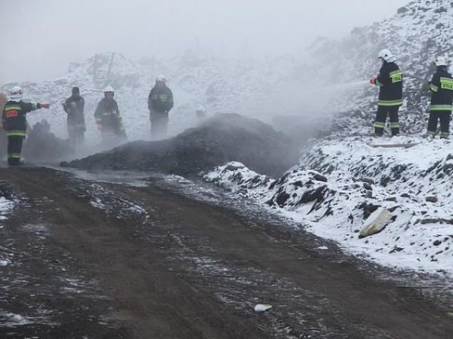 Pożar na lotnisku w Kaniowie
