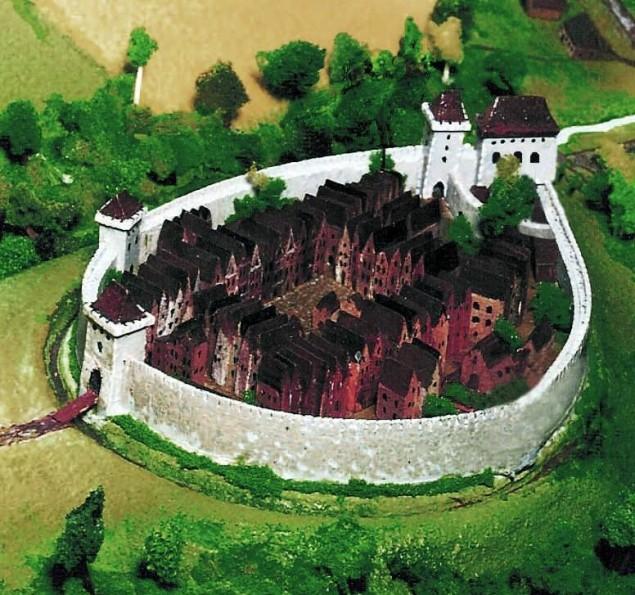 Rekonstrukcja średniowiecznego Bielska (XIV w.)