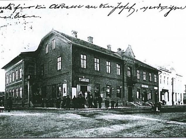 Hotel Langsam, kolejowa, historyczne zdjęcie