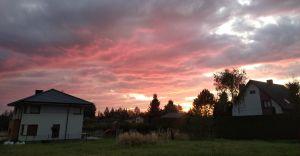Foto-dnia: jesienne niebo o poranku w Czechowicach Południowych