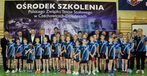 [ZDJĘCIA] W Ligocie otwarto ośrodek szkolenia tenisa stołowego