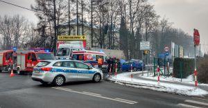 [ZDJĘCIA] Wypadek na skrzyżowaniu ulicy Węglowej z Traugutta