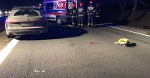 [ZDJĘCIA] Potrącenie na DK-1 w Czechowicach, piesza w szpitalu