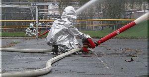 Straż pożarna ćwiczyła w Lotosie