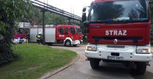 Pożar w zakładzie przemysłowym przy ul. Jeziornej w Goczałkowicach