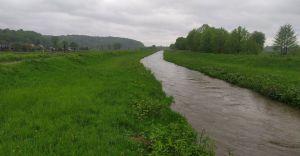 [FOTO] Rzeki płynące przez gminę przekroczyły stany ostrzegawcze