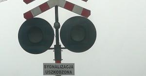 Sygnalizacja nie działa od kilku tygodni. Trwają pracę na linii kolejowej