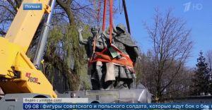 [WIDEO] Rosyjskie i białoruskie media komentują usunięcie pomnika
