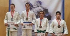 Reprezentant KS Judo Czechowice-Dziedzice ze złotym medalem