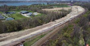Kwietniowa relacja z przebudowy węzła kolejowego