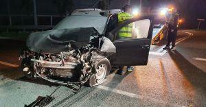 [ZDJĘCIA] Wypadek na DK-1 w Goczałkowicach. Dwie osoby ranne