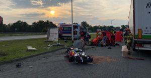 Policyjny pościg zakończył się wypadkiem. Motocyklista w szpitalu