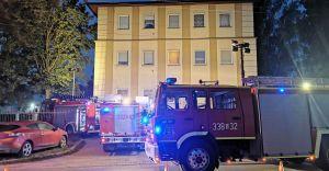 Nocny pożar piwnicy przy Kochanowskiego